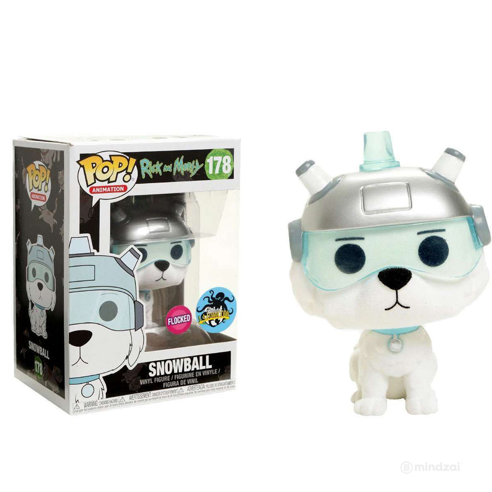 Rick and Morty: Snowball (Flocked) POP! Vinyl Figure by Funko (2017 LACC Exclusive)