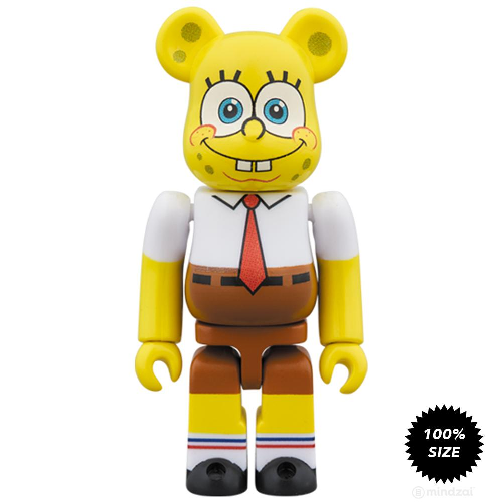 SpongeBob Squarepants 100% + 400% Bearbrick Set by Medicom Toy