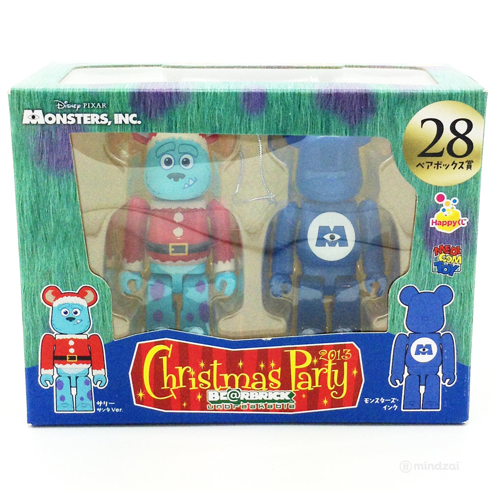 Disney x Pixar Bearbrick Unbreakable - Happy Kuji # 28 - Monster's Inc. Sulley Santa Suit and Logo (2 PK) 100% Size