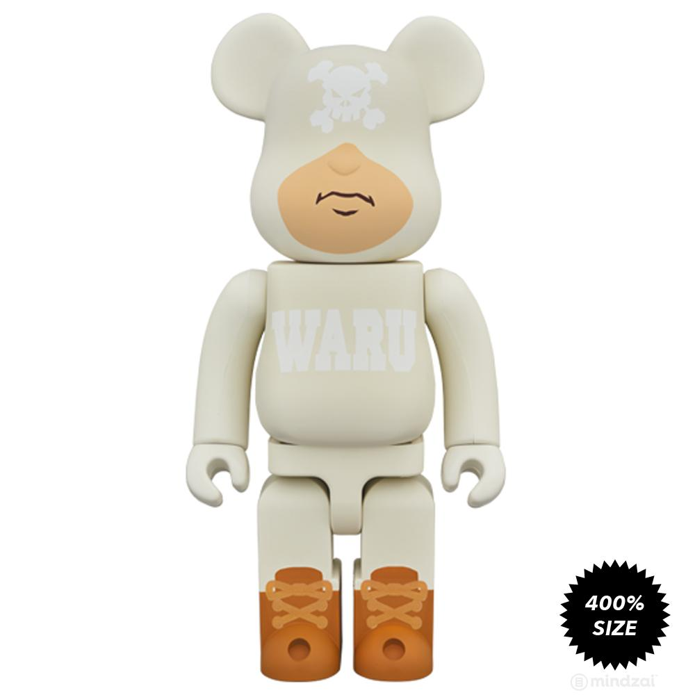 Tokyo Tribe White Waru 400% Bearbrick by Santastic Entertainment x Medicom Toy