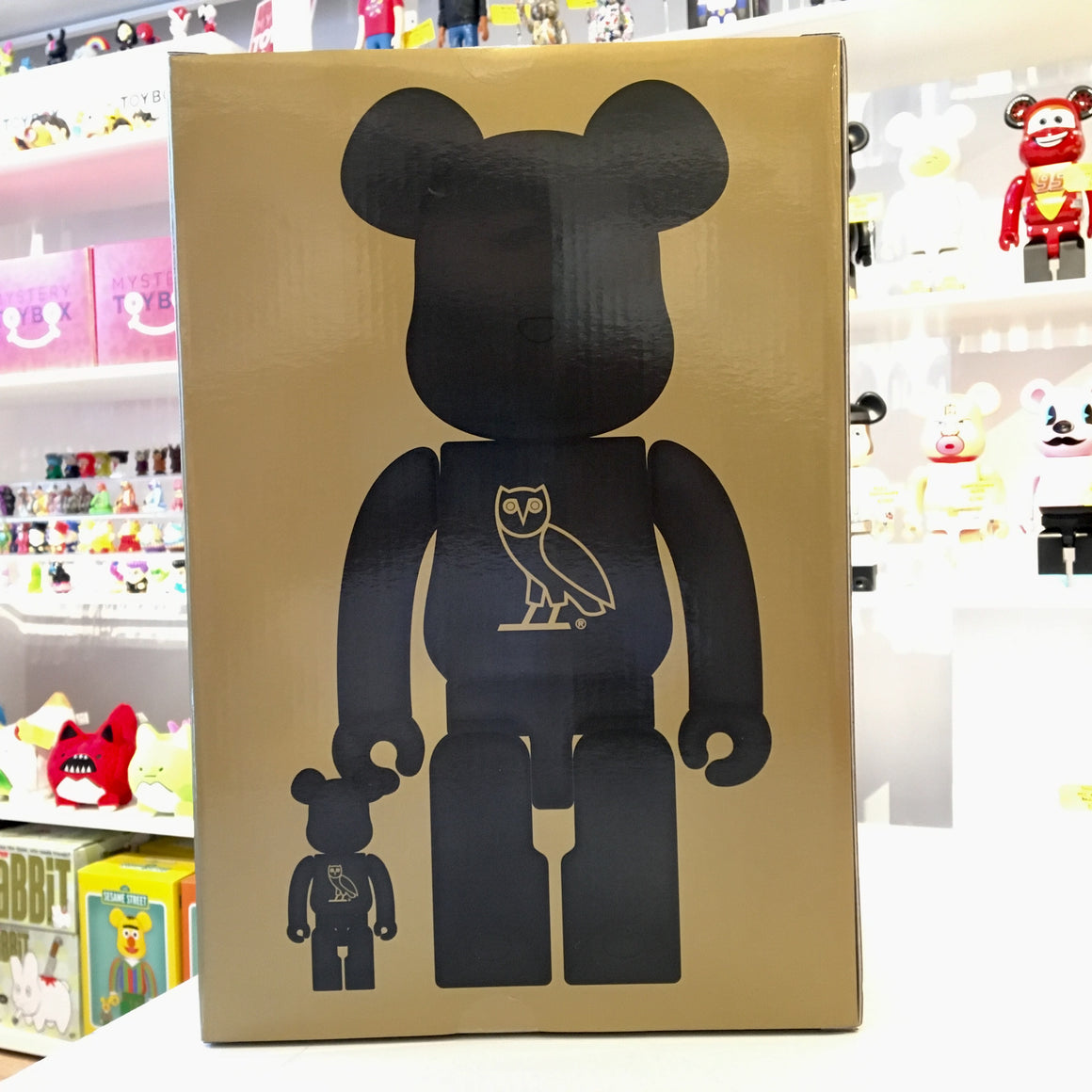 OG OWL 400% Bearbrick by OVO x Medicom Toy