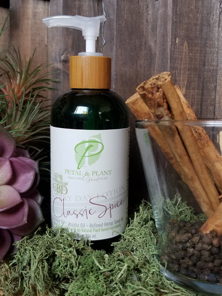 bergamont and lavender cbd body lotion