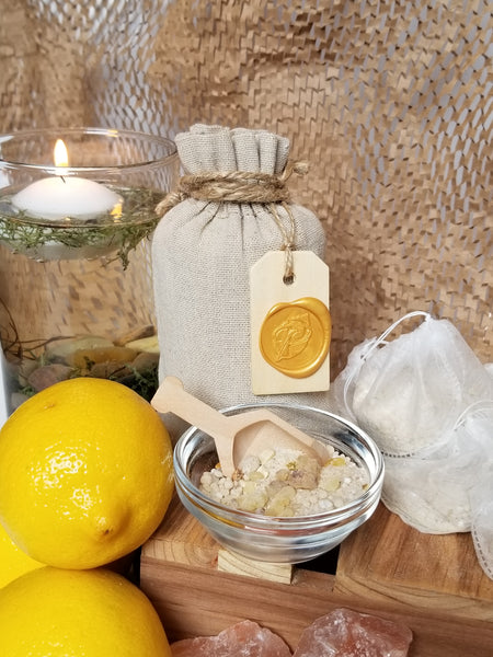 sore muscle frankincense citrus bath salts