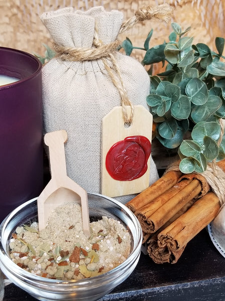 respiratory relief with eucalyptus and cinnamon bath salts