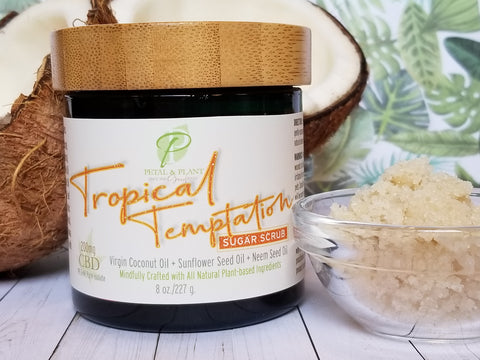 Tropical Temptation Sugar Scrub with Hemp CBD