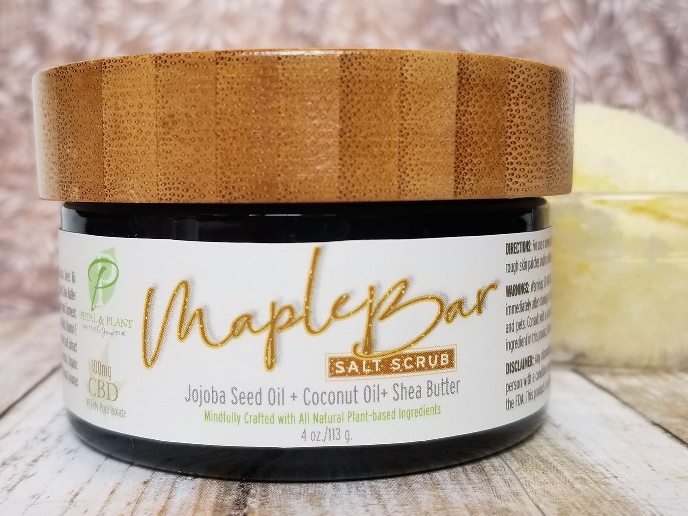Maple Bar Salt Scrub with Hemp CBD