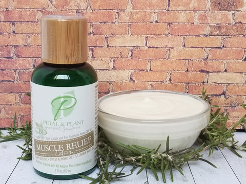 2oz Muscle Relief Hemp CBD Lotion