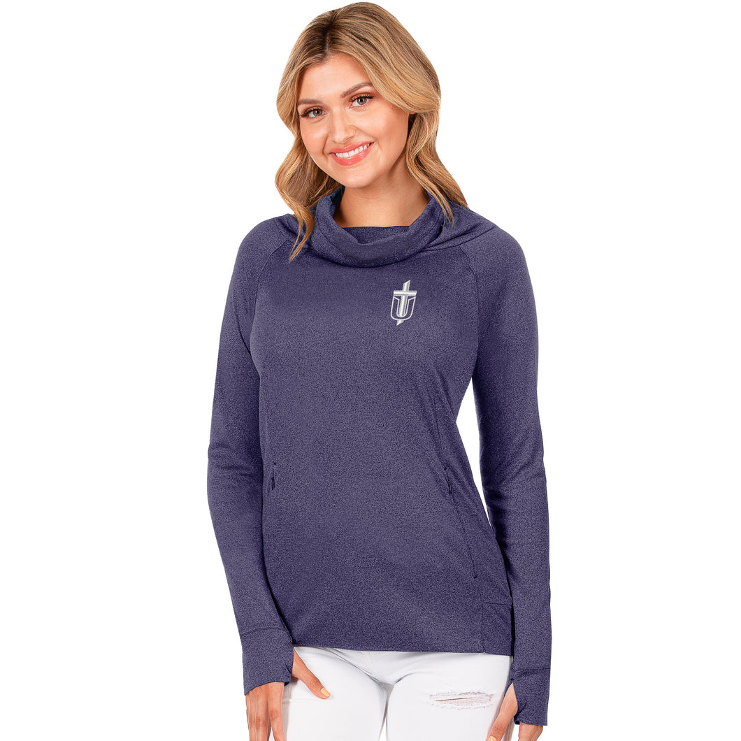 Antigua Women's Match Cowl Neck Pullover, Purple