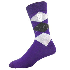 Youth Argyle Sock, Purple