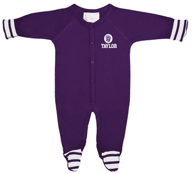 Infant Striped Footed Sleeper, Purple