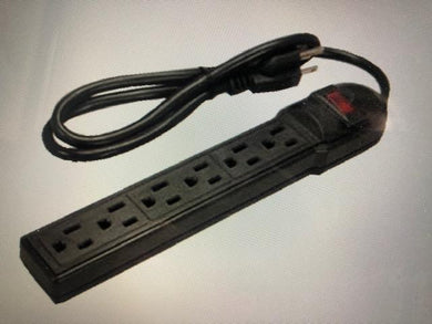 Tech Onhand Surge Protector 6 Outlet, Black