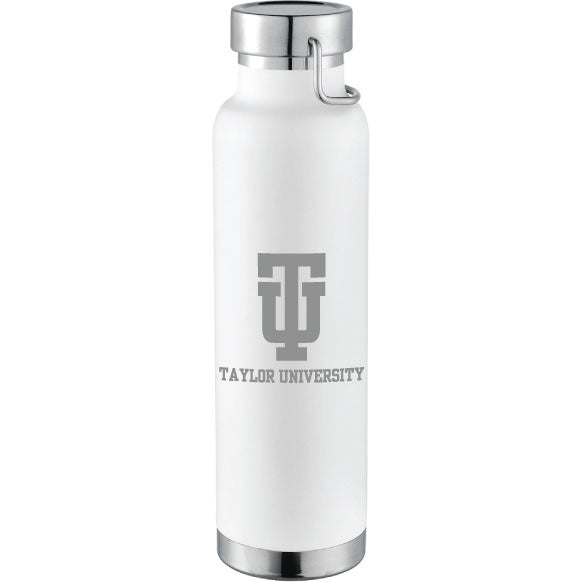 RFSJ 22 oz. Powder Coated Insulated Bottle, White