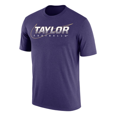 Nike Dri-Fit Cotton Short Sleeve Football Tee, Orchid