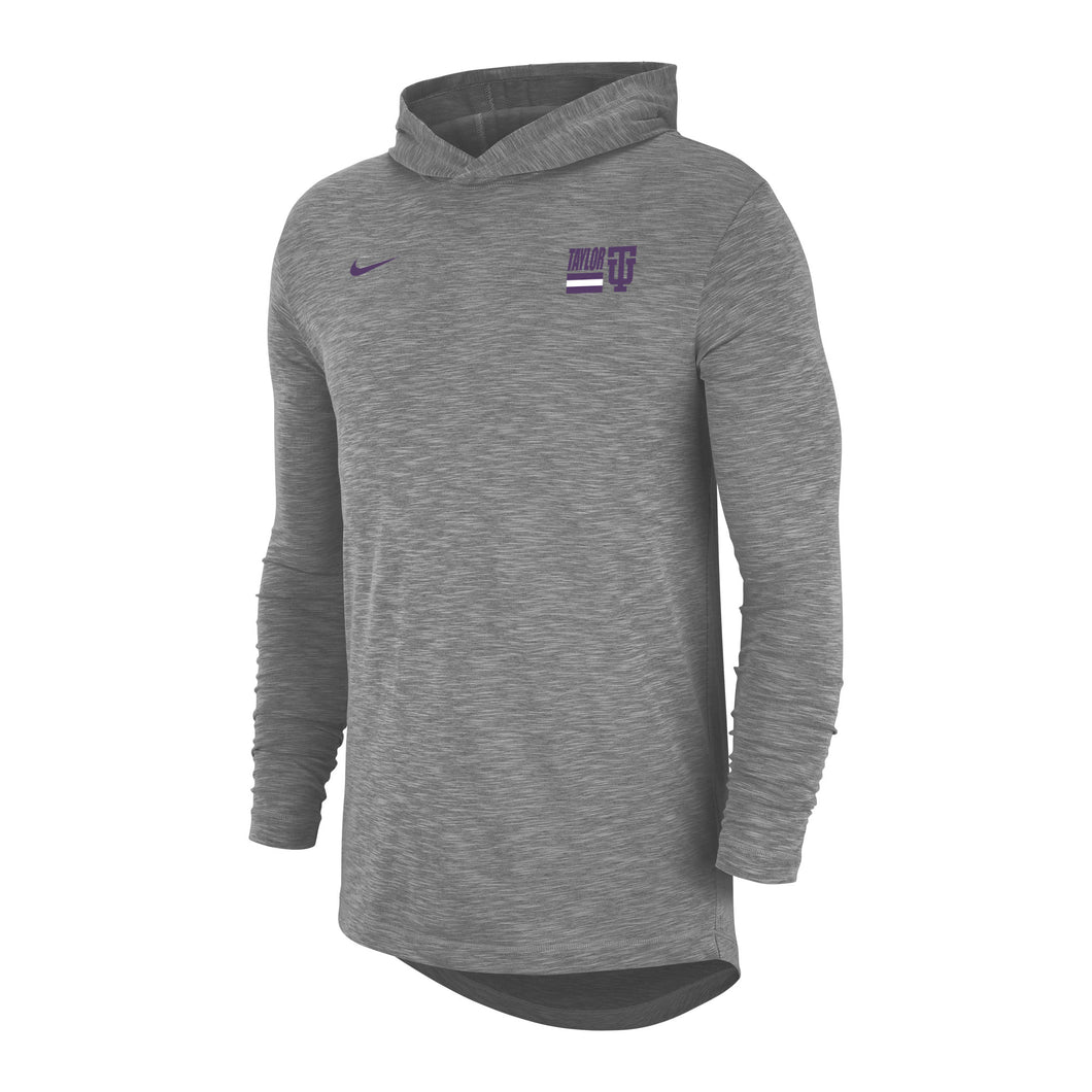 Nike Men's Slub Hoody Tee, Dark Grey Heather