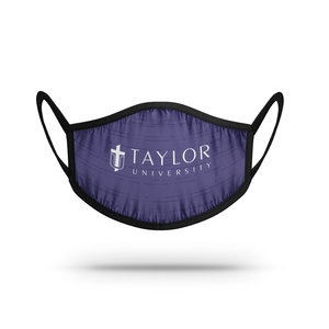 Strideline School Logo Face Mask, Purple