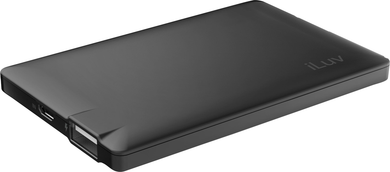 Tech Mypower Slim Portable Battery Pack 2500Mah, Black