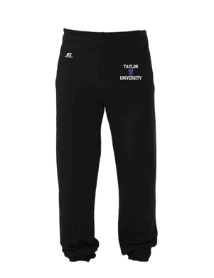 Russell Men's Closed Sweatpants, Black