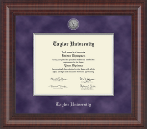 Church Hill Graduation Presidential Diploma Frame, Purple