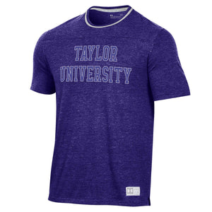 Under Armour Men's Game Day Double Ringer Tee, Purple/Silver