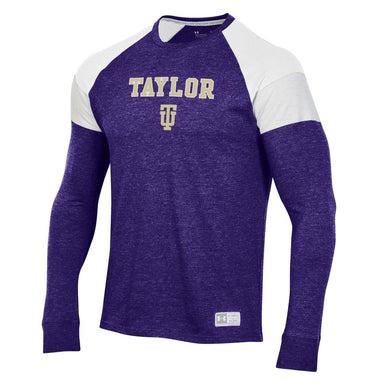Under Armour Game Day Long Sleeve Tee, Purple/White