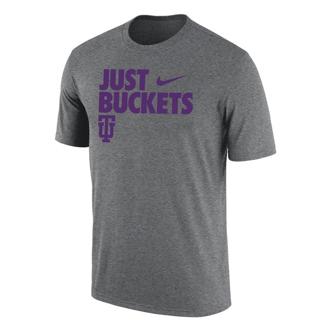 Nike Men's Dri-Fit Tee Hoops, Dark Heather