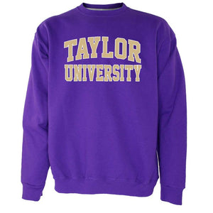 OnMission Core Cotton Crew Neck Sweatshirt, Purple