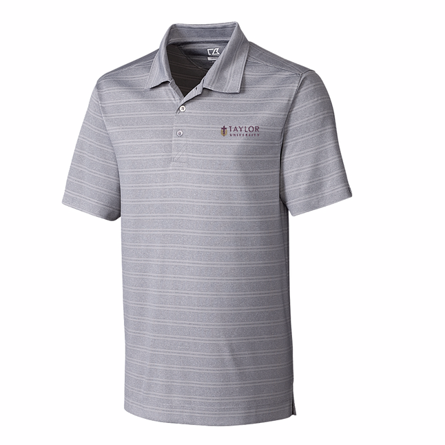 Cutter and Buck Men's Interbay Malange Stripe Polo, Fog