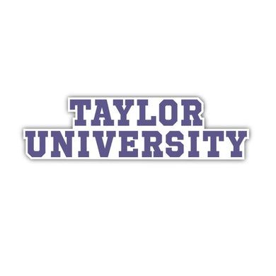 Taylor University Stacked Decal - D6