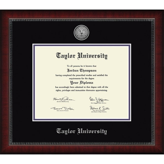Church Hill Classics Silver Engraved Diploma Frame