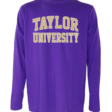 OnMission Core Cotton Long Sleeve Tee, Purple