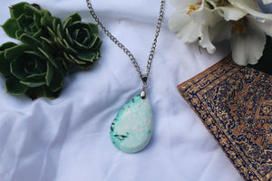 Camilla Turquoise Stone Silver Necklace
