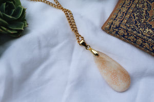 Maya Calcite Gold Necklace