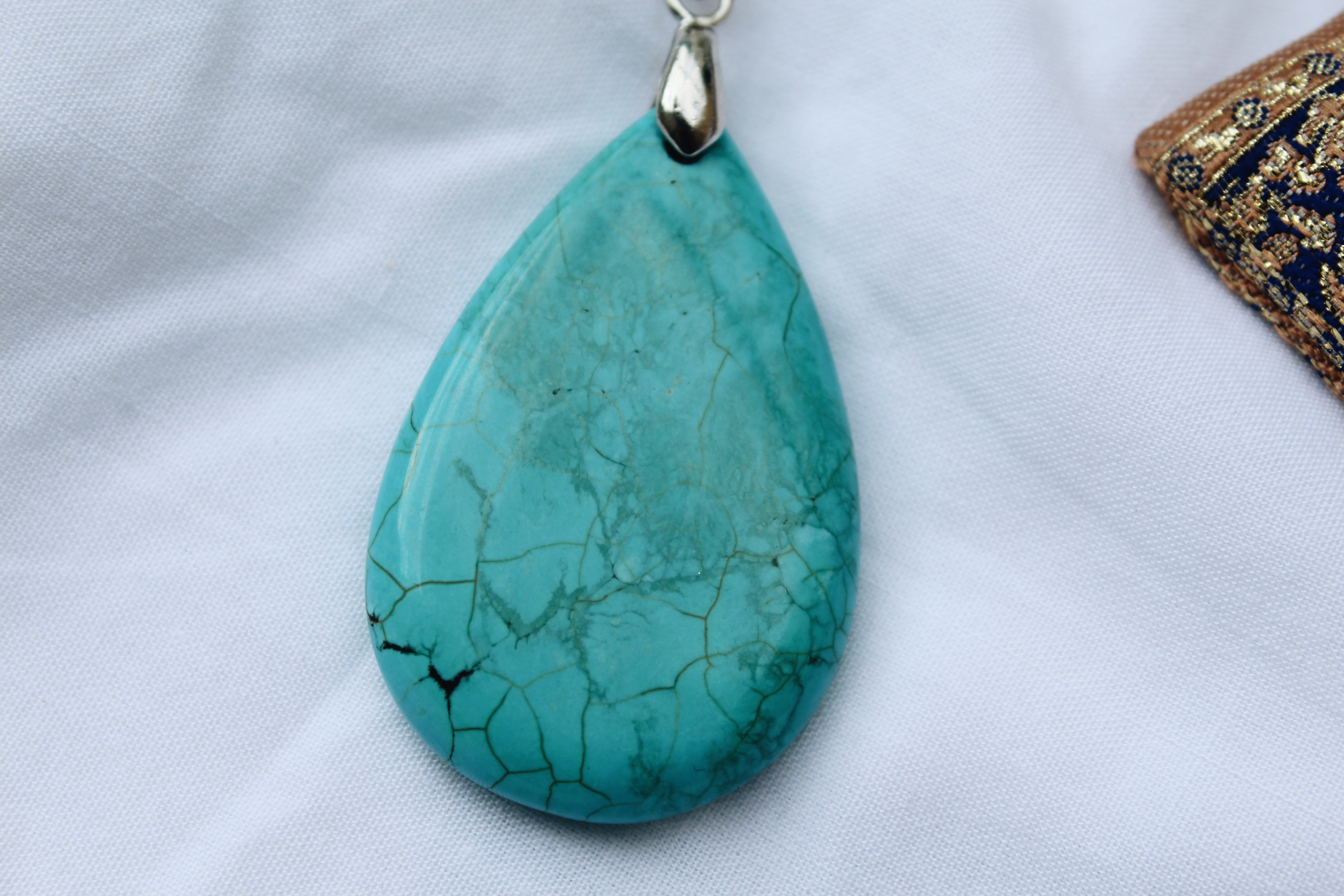 Lilja Turquoise Stone Silver Necklace