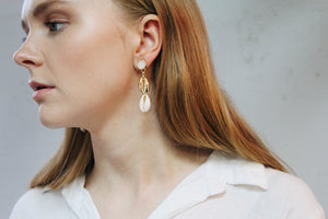 Faye Faux Shell Drop Earrings