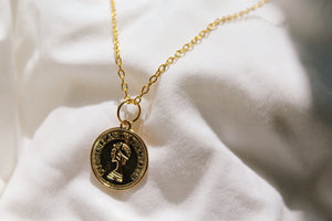 Frances Gold Coin Necklace