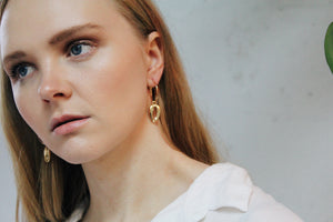 Kaia Gold Shell Earrings
