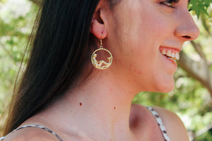 Kalani Mermaid Gold Dangles