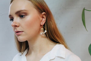 Kaytlyn Gold Shell Hoops