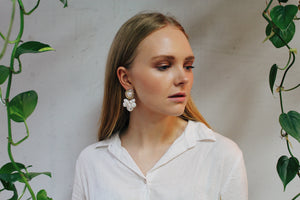 Nastassja Faux Pearl Drop Earrings