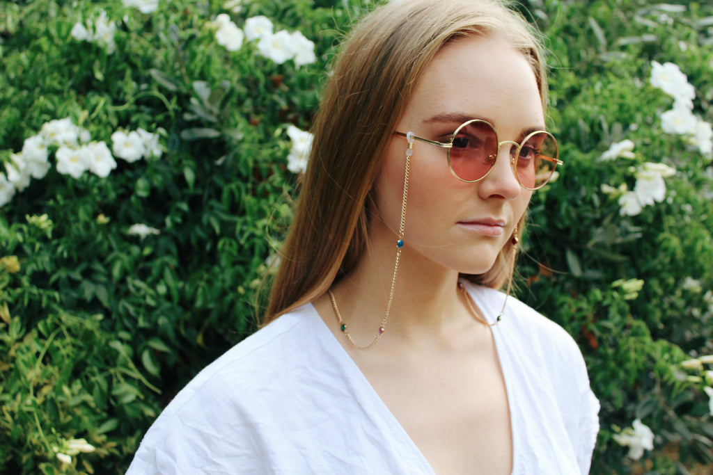 Retro Pink Round Shape Sunglasses