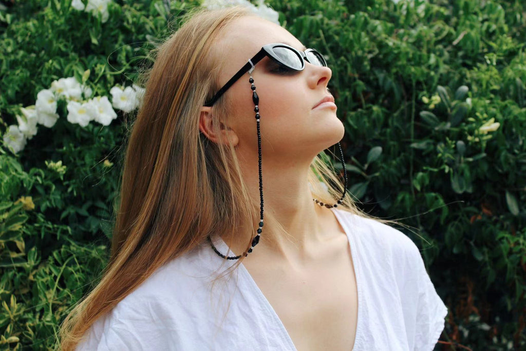 Isabella Black Sunglasses Chain