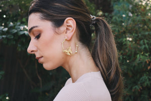 Leah Butterfly Hoops