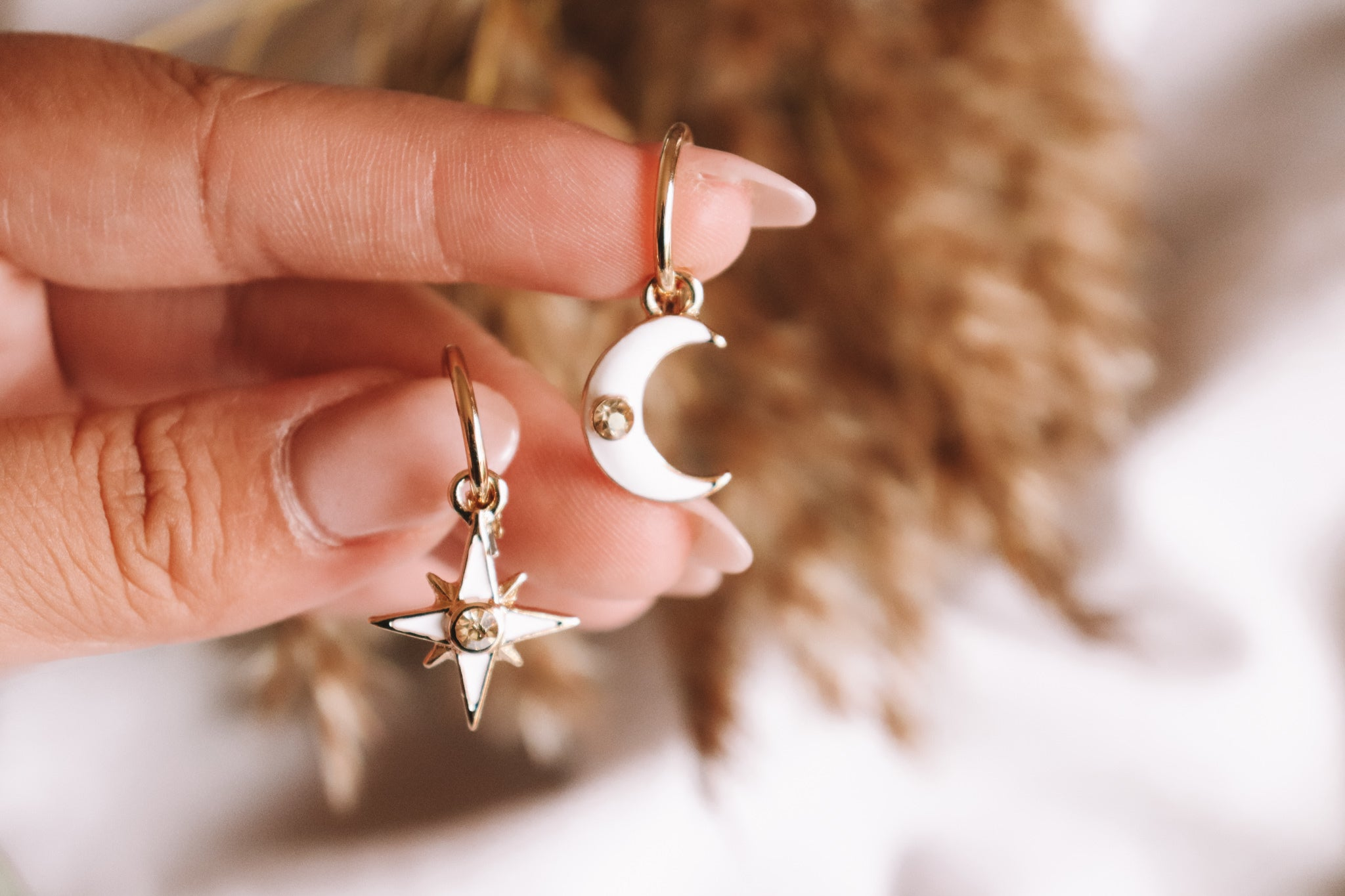 Saige Moon Star Earrings
