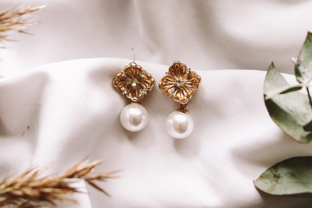 Julia Faux Pearl Earrings
