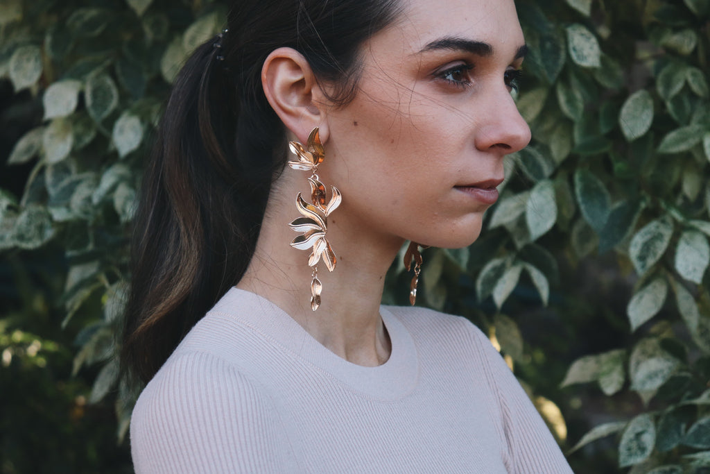 Zarliah Gold Leaf Dangles