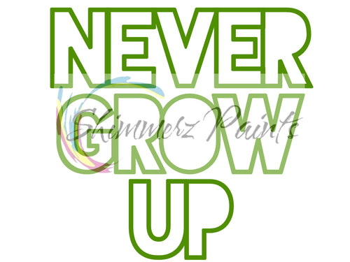 Cut Filez - Never Grow Up