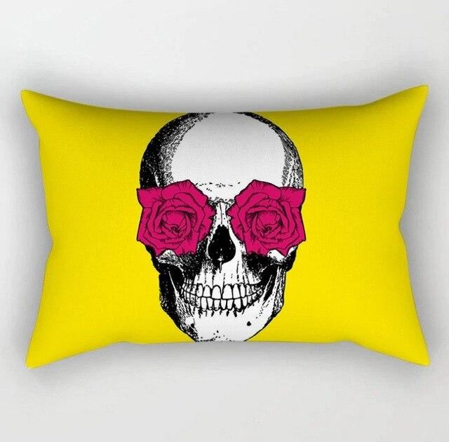 Cushion Cover in Yellow Prints