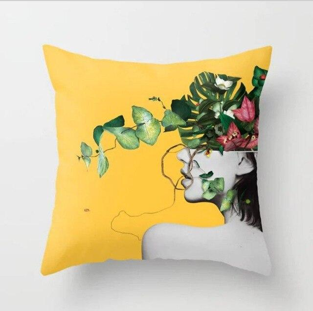 Decorative Yellow Cushion Cover