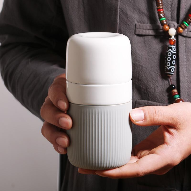 Porcelain Travel Mug with Case