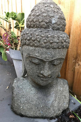 Green Stone Buddha Head (Large)